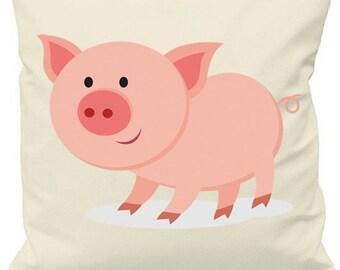 Pig Print Cushion