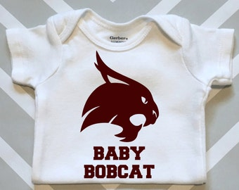 Texas State Baby Bobcat Onesie - Great Texas State Baby Shower Gift!