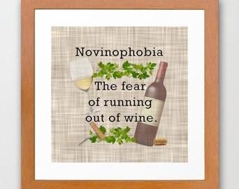 Novinophobia  - Instant Download - Printable Digital Art