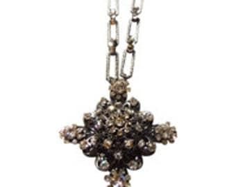Rhinestone Necklace Vintage 1940 Miriam Haskell