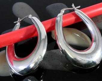 Hoops 925 sterling silver  --  2482