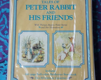 80's Books ~ Tales of Peter Rabbit and His Friends ~ Beatrix Potter ~ Hardcover Books ~Two Cassettes ~ Hard Plastic Case ~ My Nostalgic Life