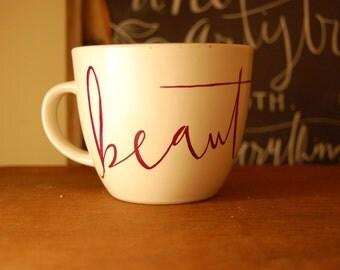 Calligraphy 'Beautiful' Mug
