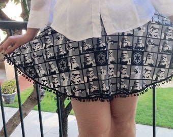 Star Wars Skirt, Storm Trooper Skirt, Circle Skirt, Force Awakens Skirt
