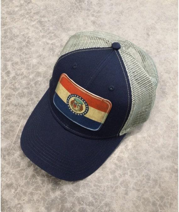 missouri flag baseball trucker mesh cap hat by tshirteesonetsy