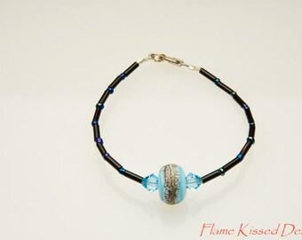 HANDCRAFTED Lampwork Glass Bead Bracelet