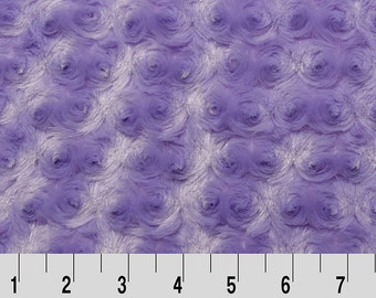 Rose Cuddle in Lavender by Shannon Fabrics REMNANT