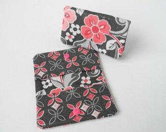 Credit Card Case, Business Card Holder Reward Card Holder Loyalty Card Case Gift Card Holder Card Organizer Mini Wallet Gift Idea Pink Gray
