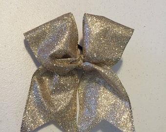 Gold Glitter Hair Bow