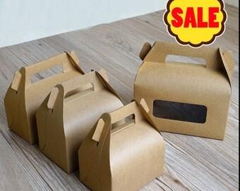 10Pcs Kraft paper packaging box /craft food package boxes /cake packing box/favor box TZ292