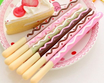 Pocky / Biscuit Stick / Kawaii Chocolate Iced Gel Pen
