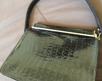 Rare Vintage Alligator Purse Bag by Sterling