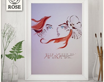 Poster - Ariel - The Little Mermaid | Wish I could be part of your world