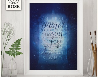 Poster - Doctor Who   That's who I am *DIGITAL DOWNLOAD*