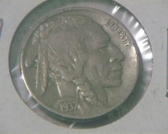 1937 P Buffalo Nickle
