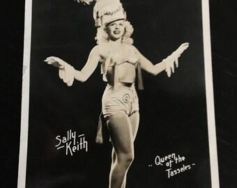 Vintage Burlesque Postcard - Sally Keith, Queen of Tassels