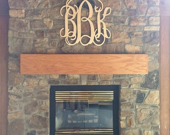 "33x35"" EXTRA Large Wooden Wall Monogram, Graduation Gift, Wedding Guestbook, Nursery Decor, Children, Wall Monogram Letters, Wooden Initials"