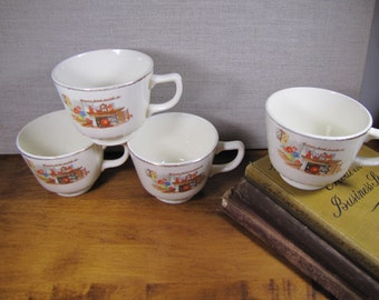 Vintage Teacups   Hearth And Home   Set Of Four (4)
