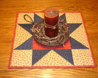 Star Table Topper/Quilted Star Table Topper/Patriotic Table Topper /Item #560