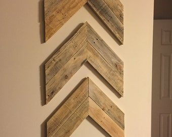 Chevron wood decor