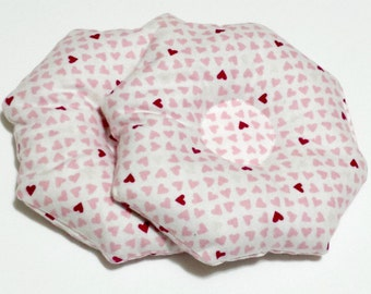 ORGANIC Hearts Boobie Cozy Heat Pack Breast Compress Cold Compress For Muscle Aches Clogged Ducts Mastitis Joint Pain