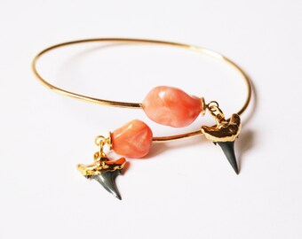 Shark and coral cuff