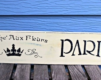 French Flower Sign