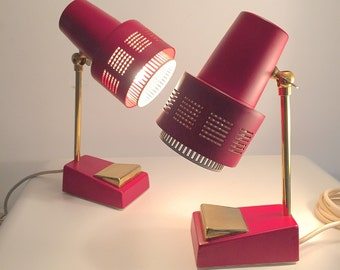 A cool set of vintage bedside table lamps