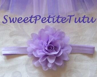 Lilac headband, Purple headband, Light purple headband, baby headband, Preemie headband, adult headband, newborn headband, flower headband