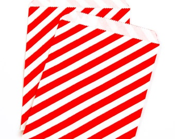 Red Diagonal Treat Bags