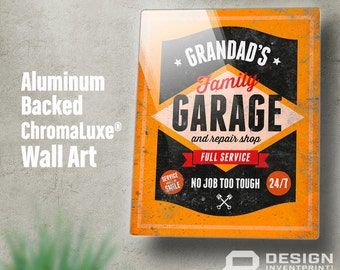 Grandad Gift, Birthday Gift For Grandad! Grandad's Garage Shop Present, New Grandad Gift, Grandad Picture Frame, Grandad Christmas Gift