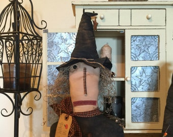 Primitive witch shelf sitter