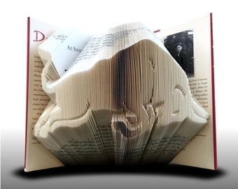 Book folding Red Bull (Pattern)