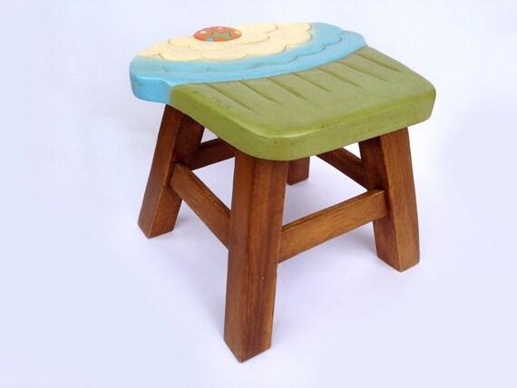 Cupcake Stool Kids Stool Sitting Stool Hand Painted Wooden
