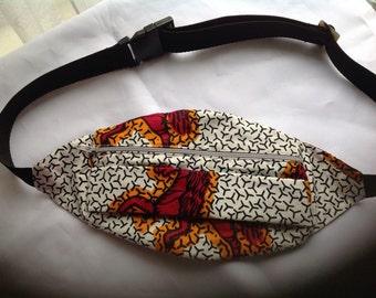 Ankara Bum bag, ankara waist bag, ankara hip pouch, bum bag, hip bag