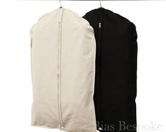 100% Cotton Canvas Suit Bag, Natural or Black