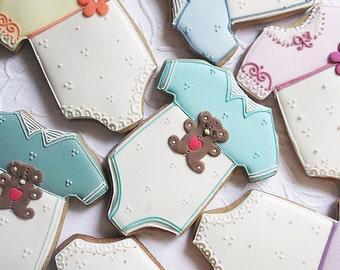 Baby Onesie Biscuit Cookie 10 Baby Shower Biscuit