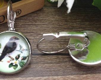 Pie bird earrings
