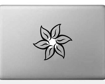 Lotus Flower decal, Macbook Decal Sticker, Laptop decal, yoga decal, Phone Sticker, Car decal -  dcl169