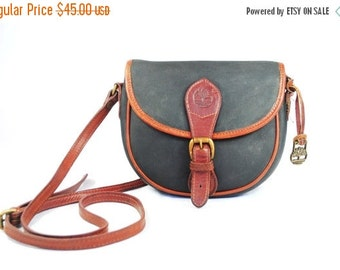 SUPER SALE Timberland Leather Crossbody Purse / Messenger bag // Shoulder bag