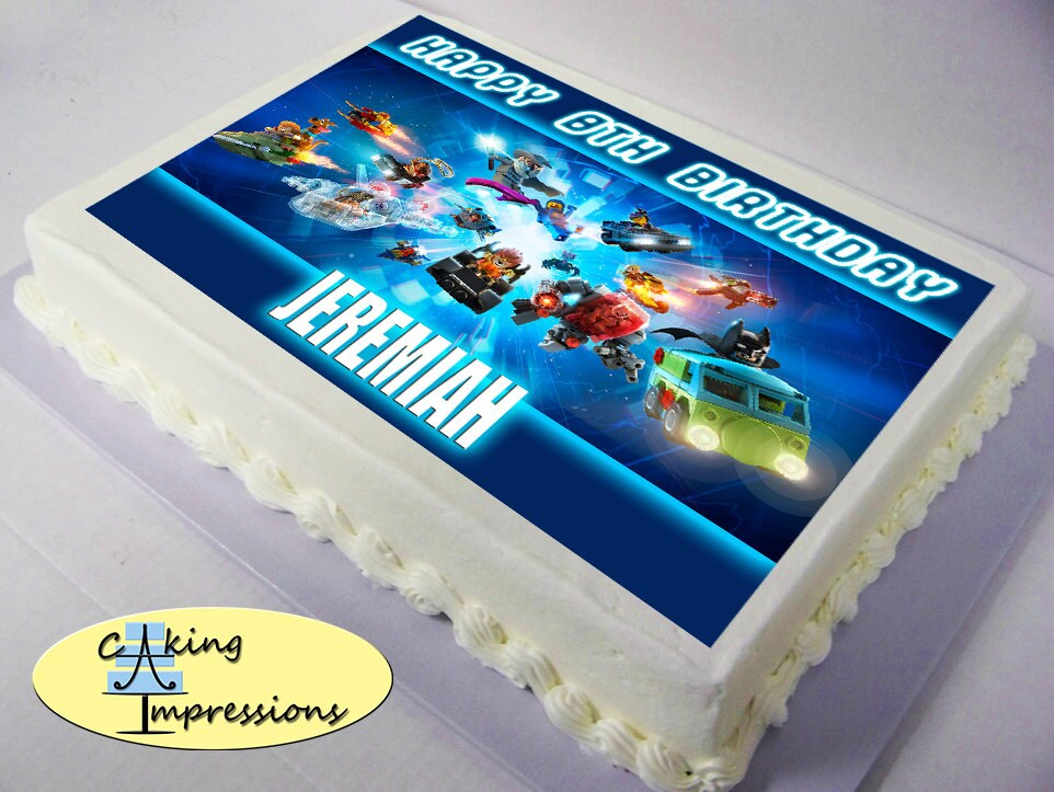Lego Dimensions Edible Image Cake Topper by CakingImpressions