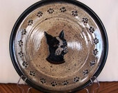 """Boston Dog Lover Handcrafted 9"""""""" Plate"""