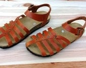 20% Off, Free Shipping, vegan Sandals, Summer Shoes, Flat Sandals, Straps Sandals  vegan women  etrusca