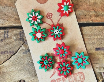 Fun Christmas Button Embelisents from Dress It Up