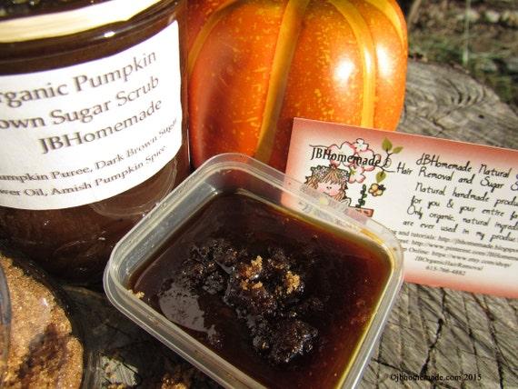 Natural Pumpkin Vanilla Brown Sugar Scrub Body Polish - 2 Oz
