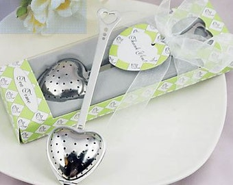 Tea Time Stainless Steel Heart Tea Infuser Wedding Favor - Wedding Favor Tea Infuser - Wedding Favor
