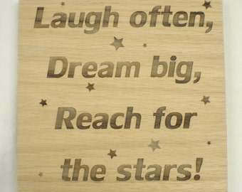Reach for the Stars plaque