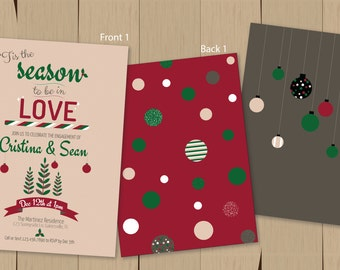 Christmas/Holiday Engagement Party Invitation