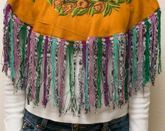 Embroidered Mexican cape