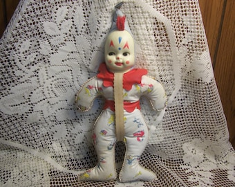 Vintage Baby Bottle Holder, Celluloid Face